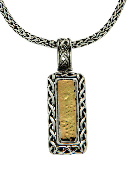 Labyrinth Weave Bar Pendant