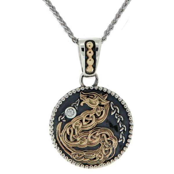 Medallion Dragon Pendant Small