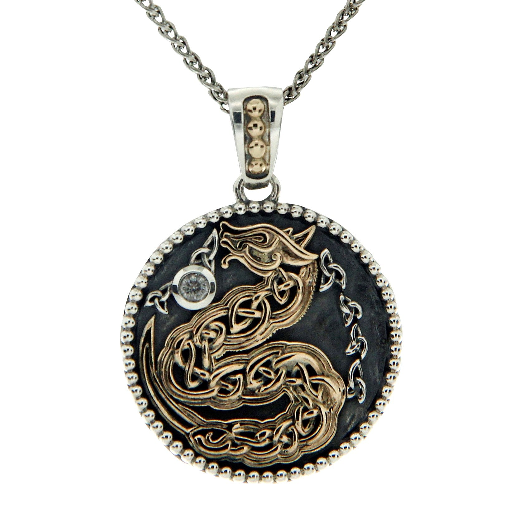 Medallion Dragon Pendant