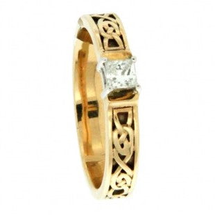 Anna Ring 14K Gold with CZ or Diamond