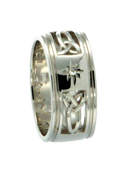 Kintyre Ring  Sterling Silver with Diamond