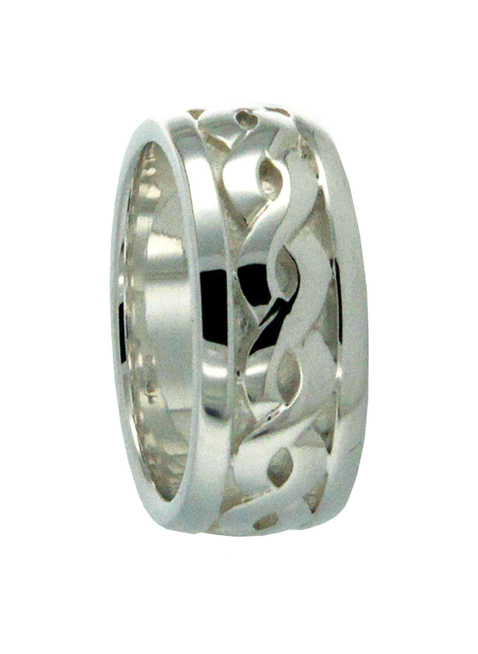 Extra Wide Weave Ring Sterling Silver