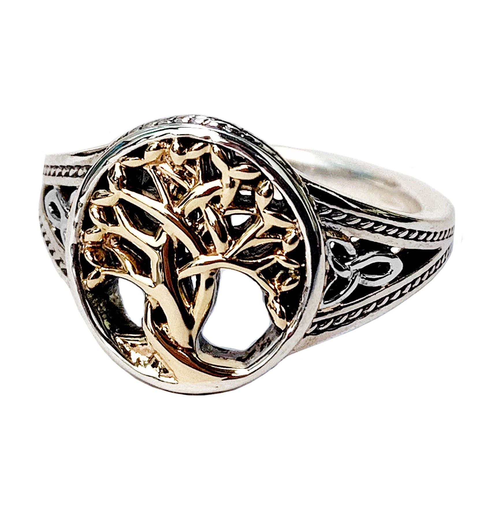 Round Tree Of Life Ring Celtic Creations