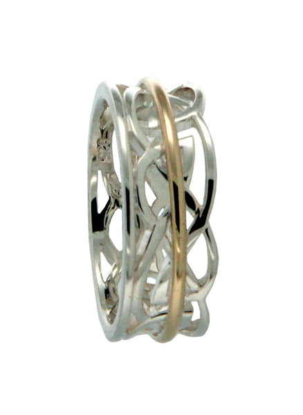 Crown Ring with Meditation Rail