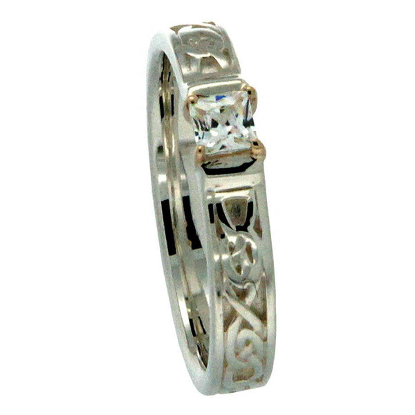 Anna Ring - Sterling Silver with Cubic Zirconia