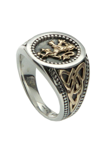 Scottish Lion Rampant Signet Ring