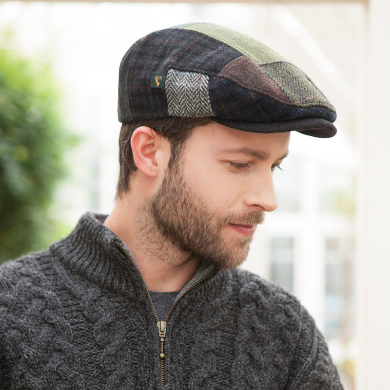 "Mucros Weavers ""Patch"" Wool Cap"