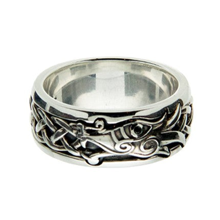 Norse Forge Dragon Ring Sterling Silver