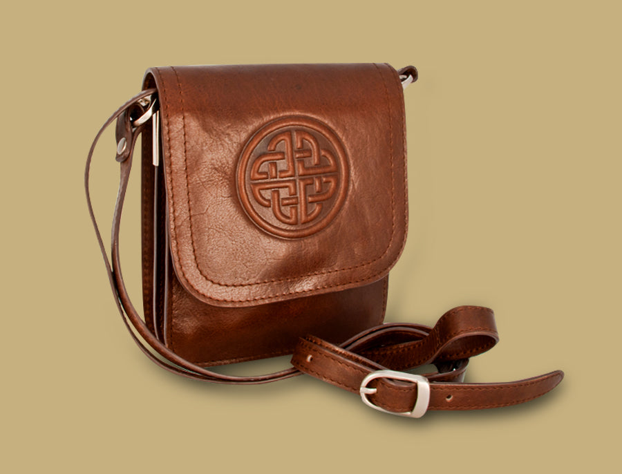 "Lee River ""Morrigan"" Leather Cross Body Bag"