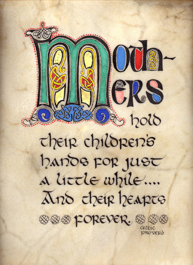 A Mothers Blessing - Double Matted Celtic Art Print