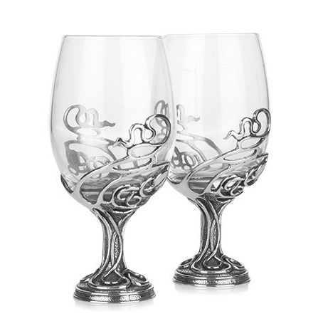 Neverending Swirl Wine Glass Pair