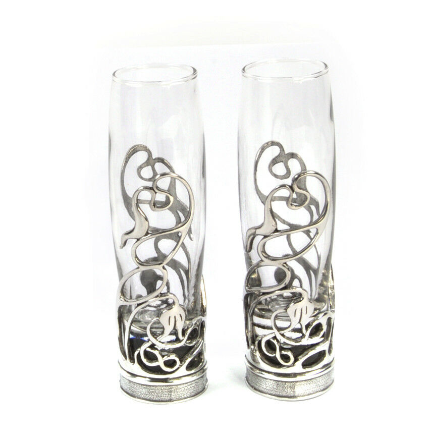 Neverending Swirl Champagne Glass Pair