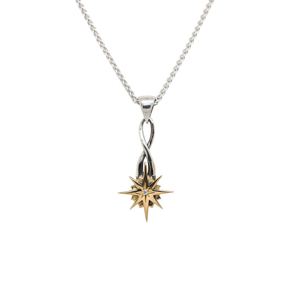 Compass Star Pendant - Small