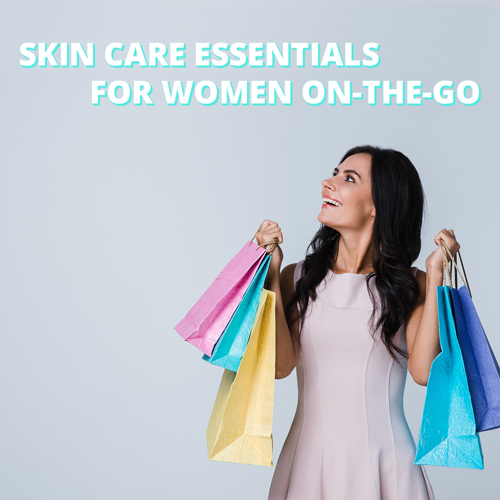 Skin care essentials for women on-the-go