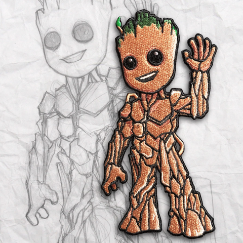 Grumpy Groot Embroidery Morale Patch
