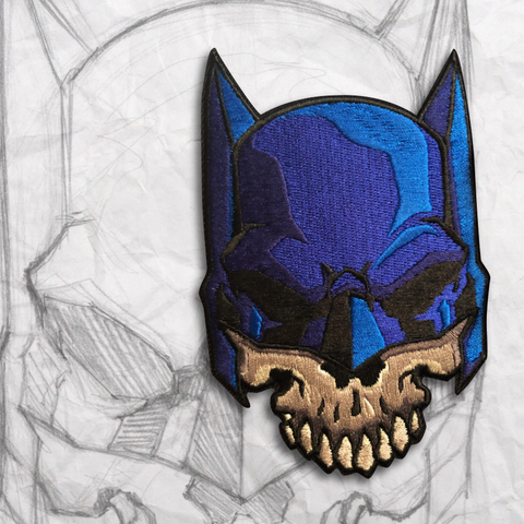 The Bat Skull Embroidery Morale Patch