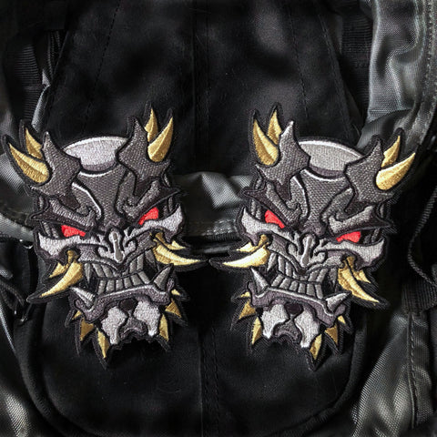 Berserker Oni Mask Embroidery Morale Patch