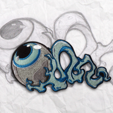 Blue Glow Eye Embroidery Patch