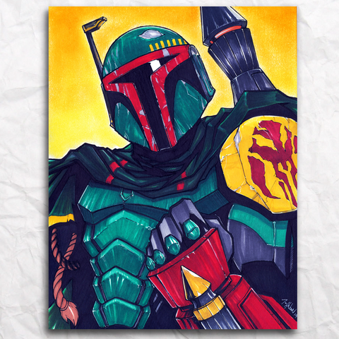 Boba Fett Original Artwork