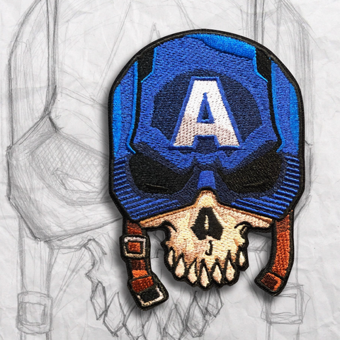"Patriot ""Cap"" Skull Embroidery Morale Patch"
