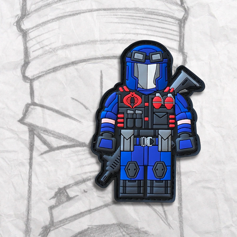 Grumpy Brick fig Cobra Viper PVC Patch