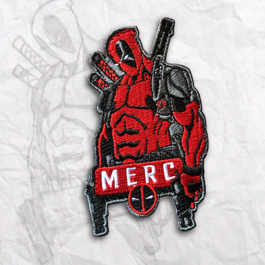 Deadpool Embroidery Morale Patch