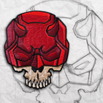 Daredevil Skull Embroidery Patch