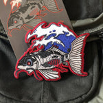 Dark Koi Embroidery Patch