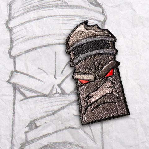 Dark Grumpy Pencil Embroidery Morale Patch
