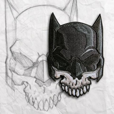 Dark Knight Skull Embroidery Morale Patch