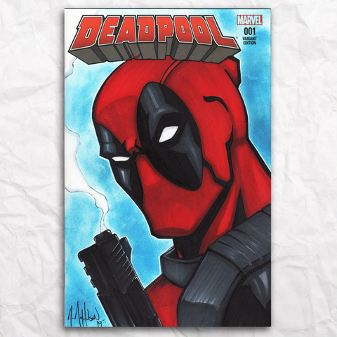Deadpool Comic Original Artwork