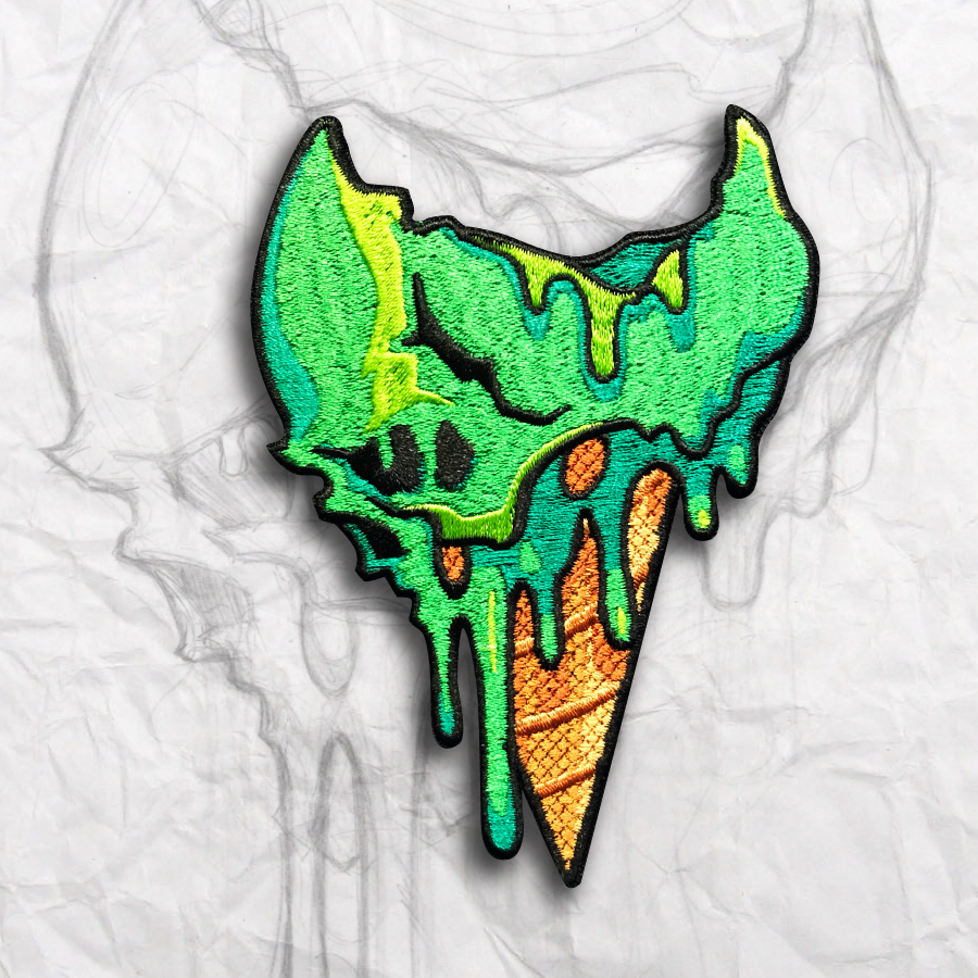 "Death Cone, ""Toxic Lime ""Embroidery Morale Patch"
