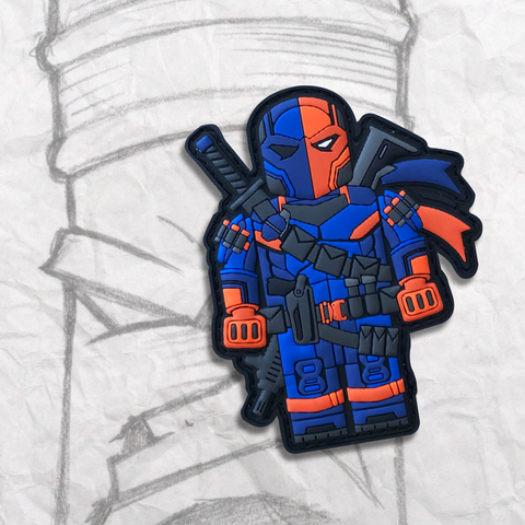 Grumpy Brick fig Deathstroke PVC Patch
