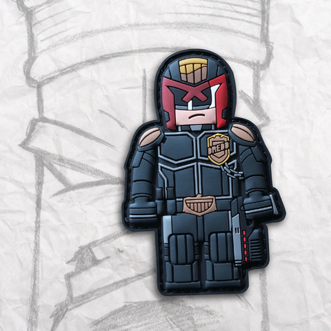 Grumpy Brick fig Judge Dredd PVC Morale Patch