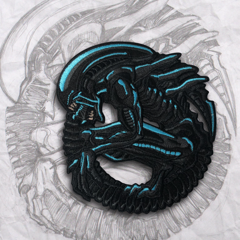 Electric Xeno Embroidery Patch