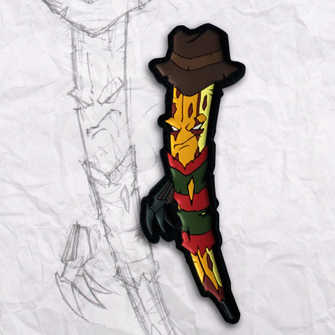 Freddy Grumpy Pencil PVC Morale Patch