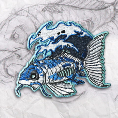 Ghost Koi Embroidery Morale Patch