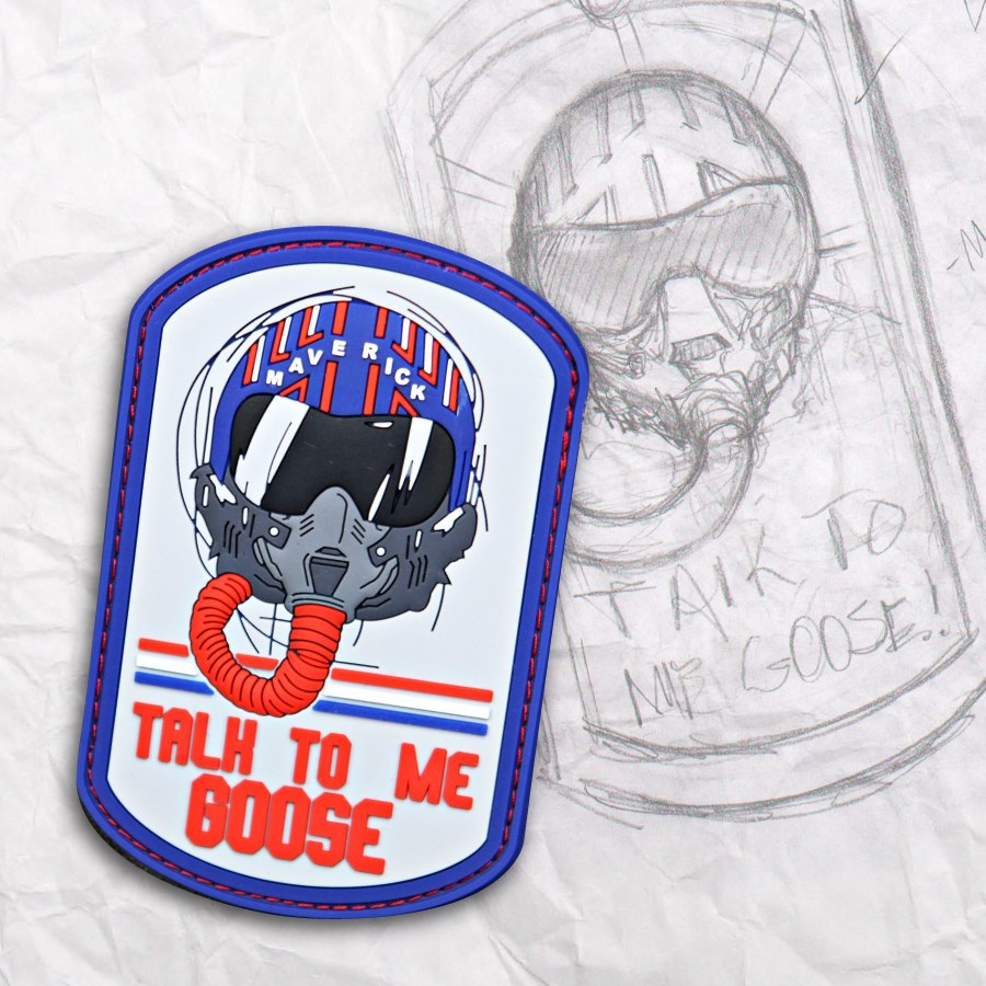 Talk To Me Goose PVC Patch