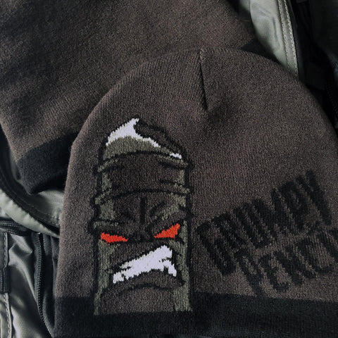 Grumpy Pencil Blackout Beanie