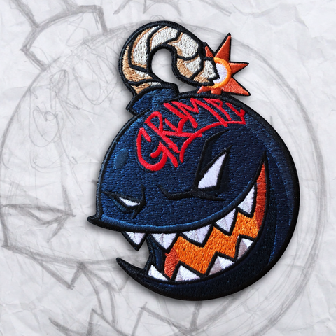 The Grumpy Blue Bomber Embroidery Patch