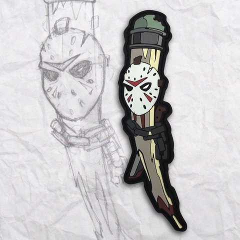 Grumpy Friday the 13th Pencil PVC Morale Patch