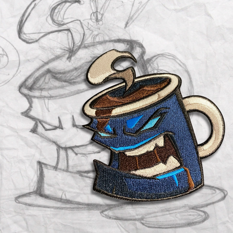 The Grumpy Mug, Breakfast Blend Embroidery Patch