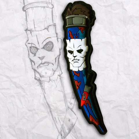 Grumpy Michael Myers Pencil PVC Morale Patch