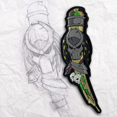 The Predator Grumpy Pencil PVC Morale Patch