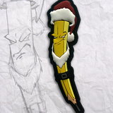 Grumpy Santa Pencil PVC Patch
