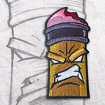 Grumpy Pencil Embroidery Morale Patch