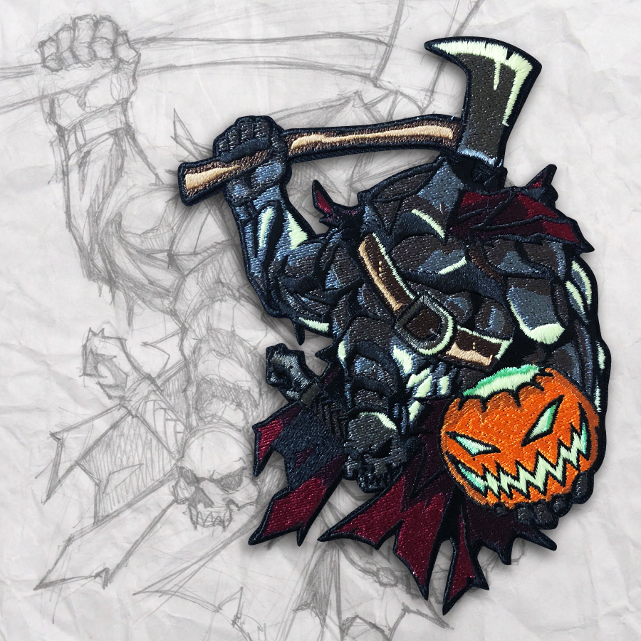 Headless Horseman Embroidery Morale Patch