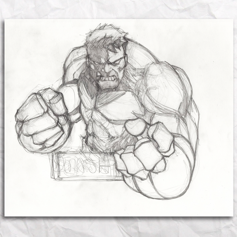 Hulk Sketch Original Artwork