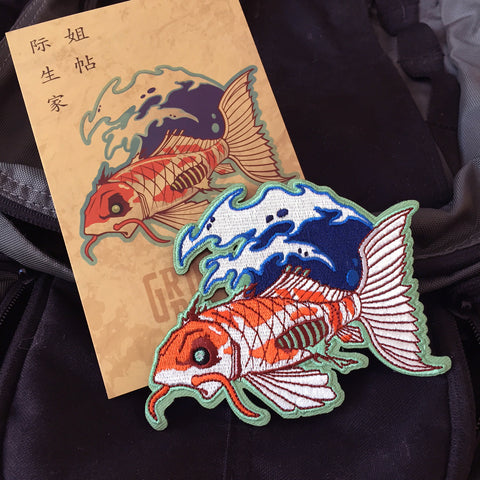 Zombie Koi Embroidery Morale Patch