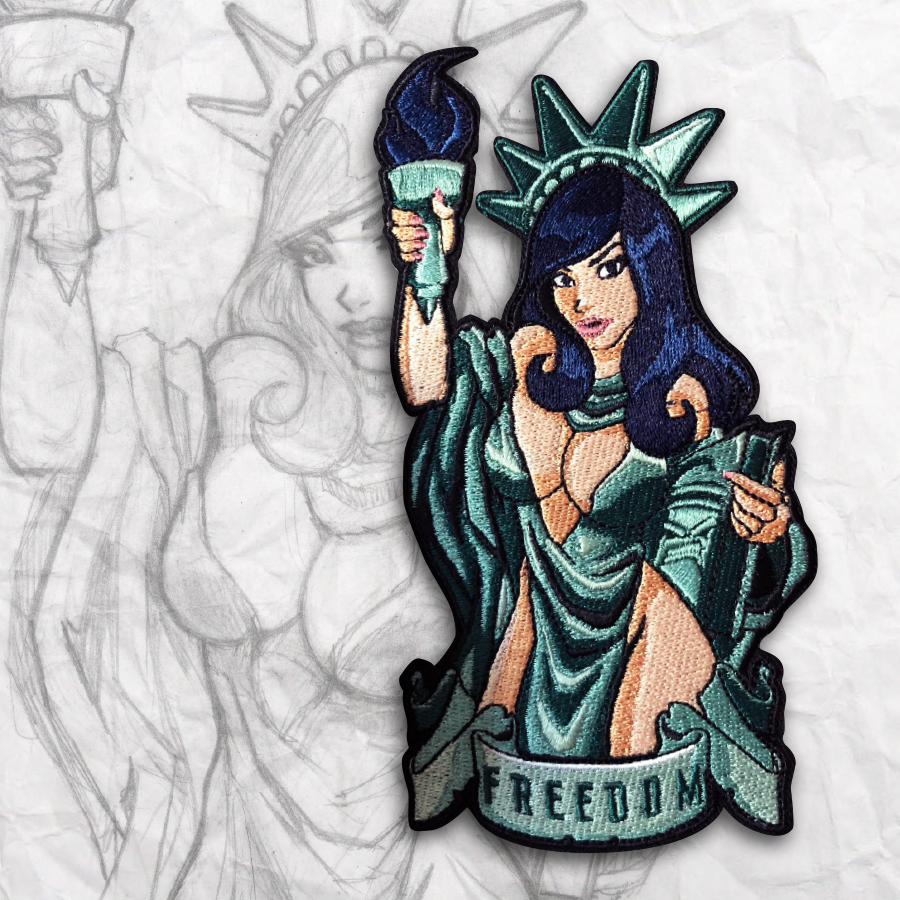 Lady Liberty Embroidery Morale Patch